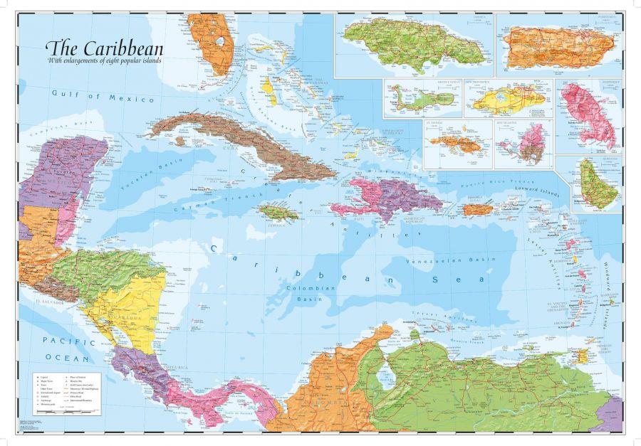 Caribbean And Main Islands Map