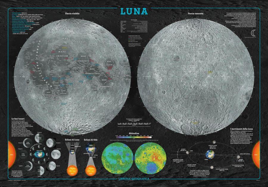 Moon Wall Map Italian