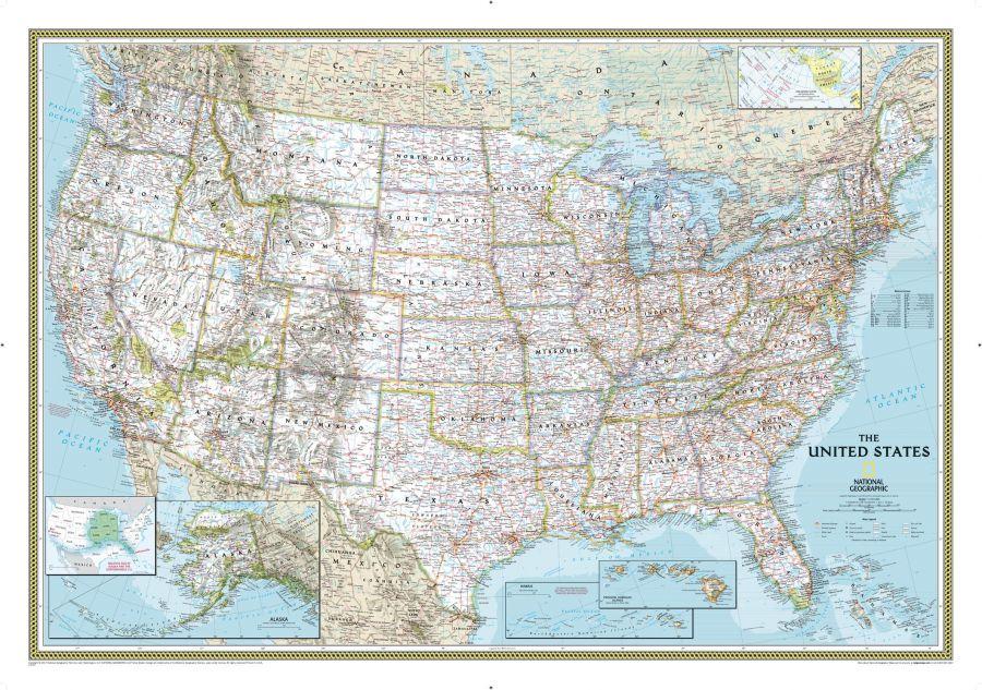 United States Classic Map