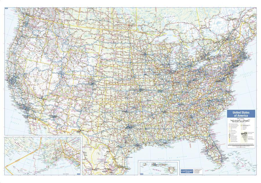 Usa Wall Map Large