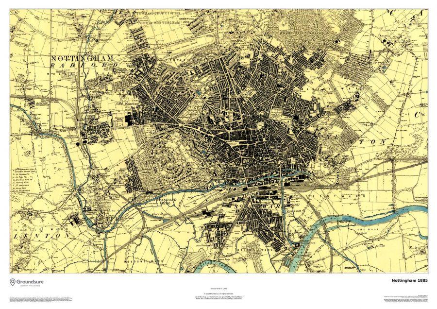Nottingham Map 1885