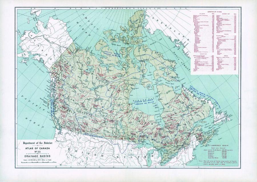 Drainage Basins 1906 Map