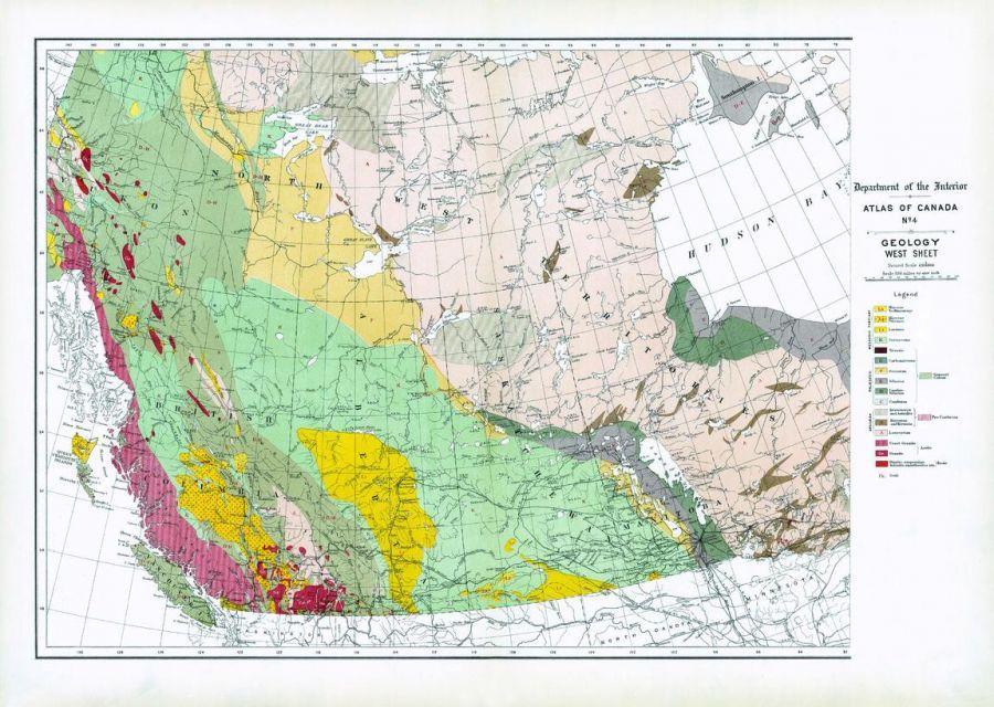 Geology West Sheet 1906 Map