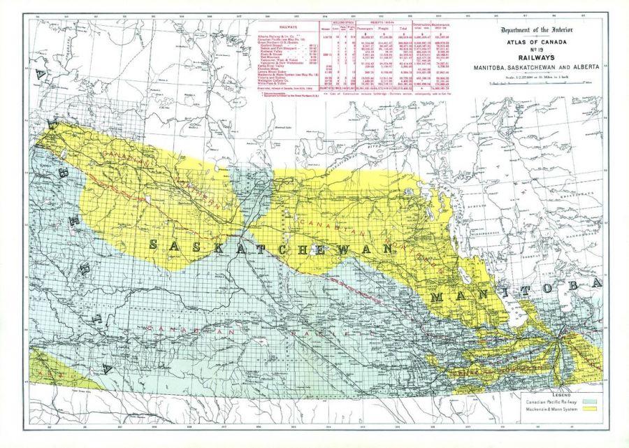 Railways Manitoba Saskatchewan And Alberta 1906 Map