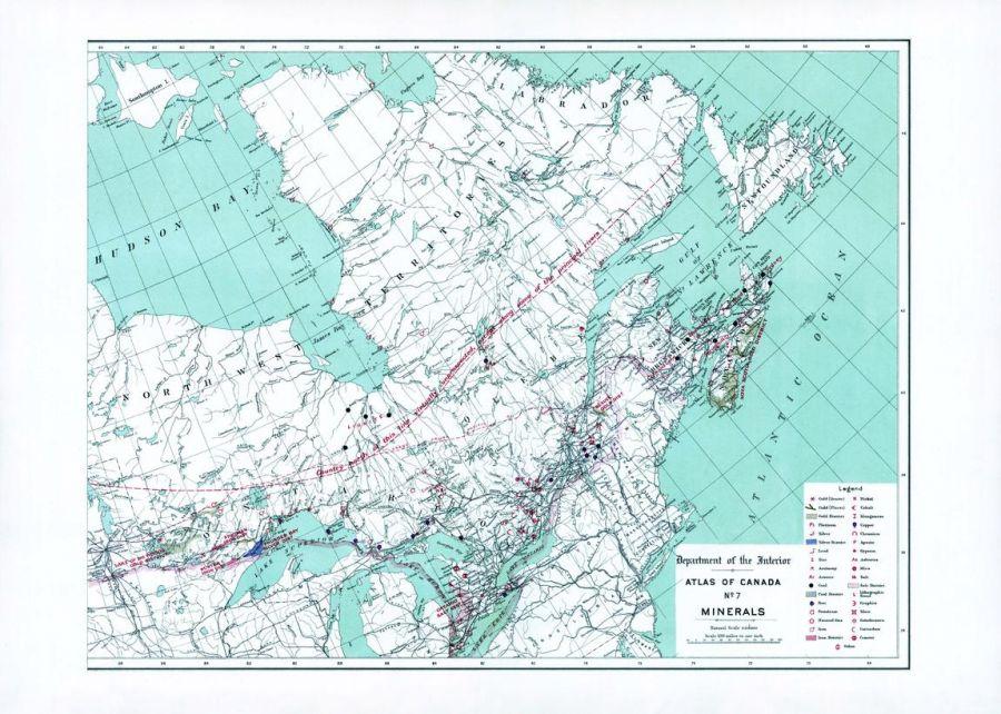 Minerals East Sheet 1906 Map