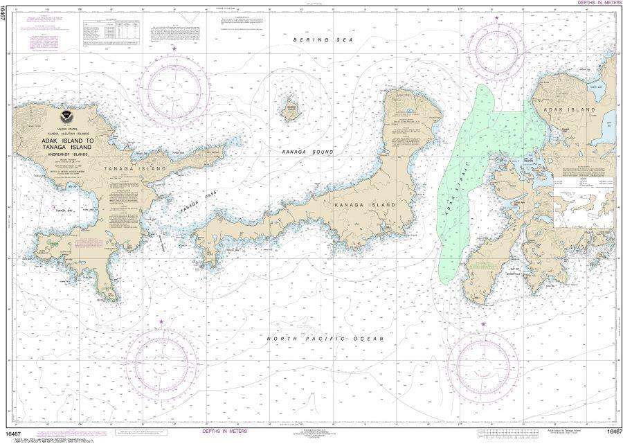 Noaa Chart 16467 Adak Island To Tanaga Island
