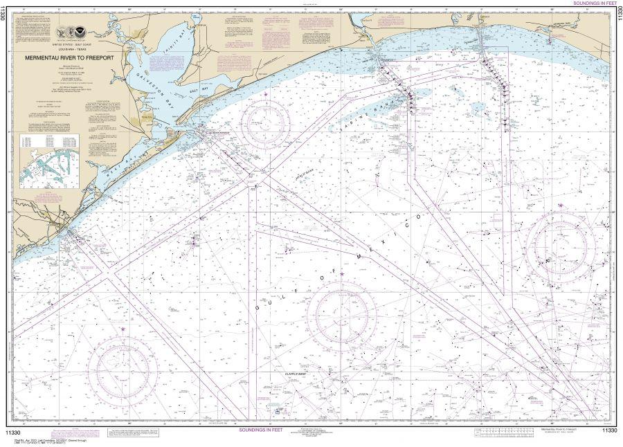 Noaa Chart 11330 Mermentau River To Freeport