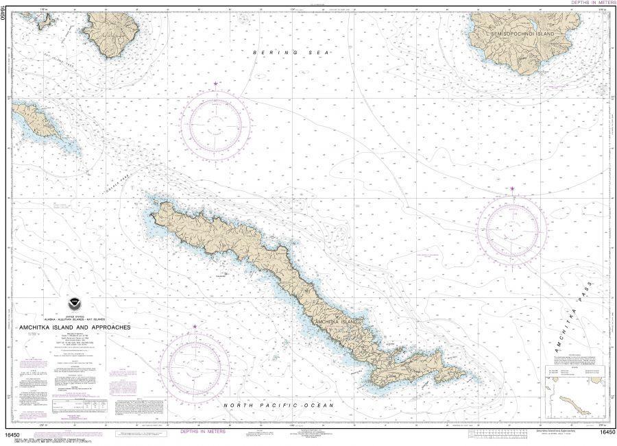 Noaa Chart 16450 Amchitka Island And Approaches