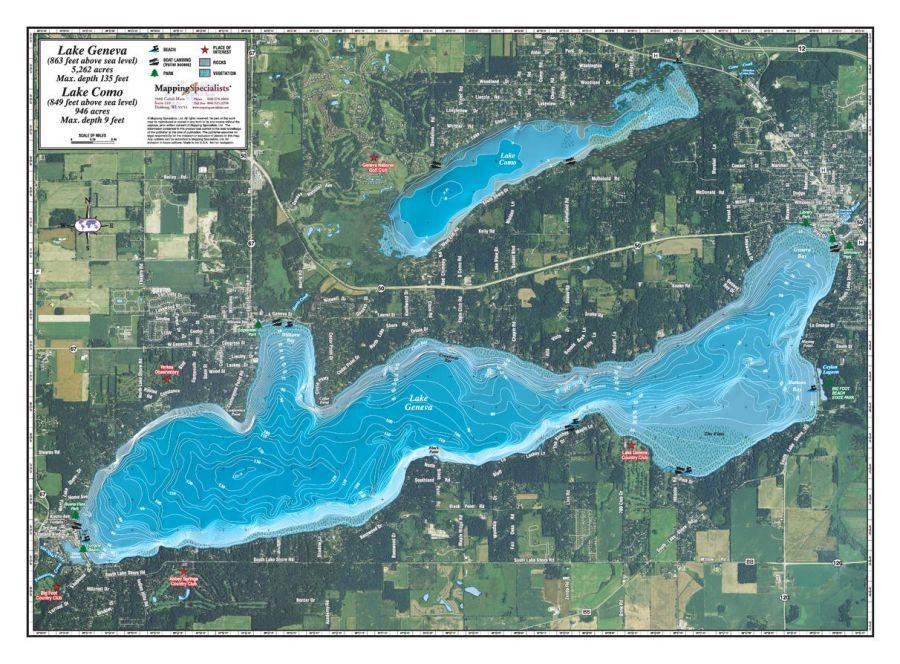Geneva Lake Map