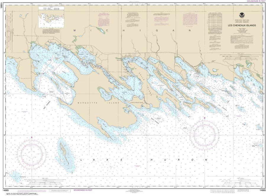 Noaa Chart 14885 Les Cheneaux Islands