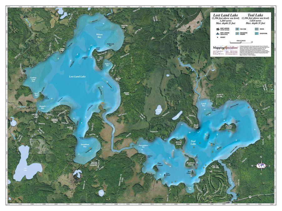 Lost Land Teal Lake Map