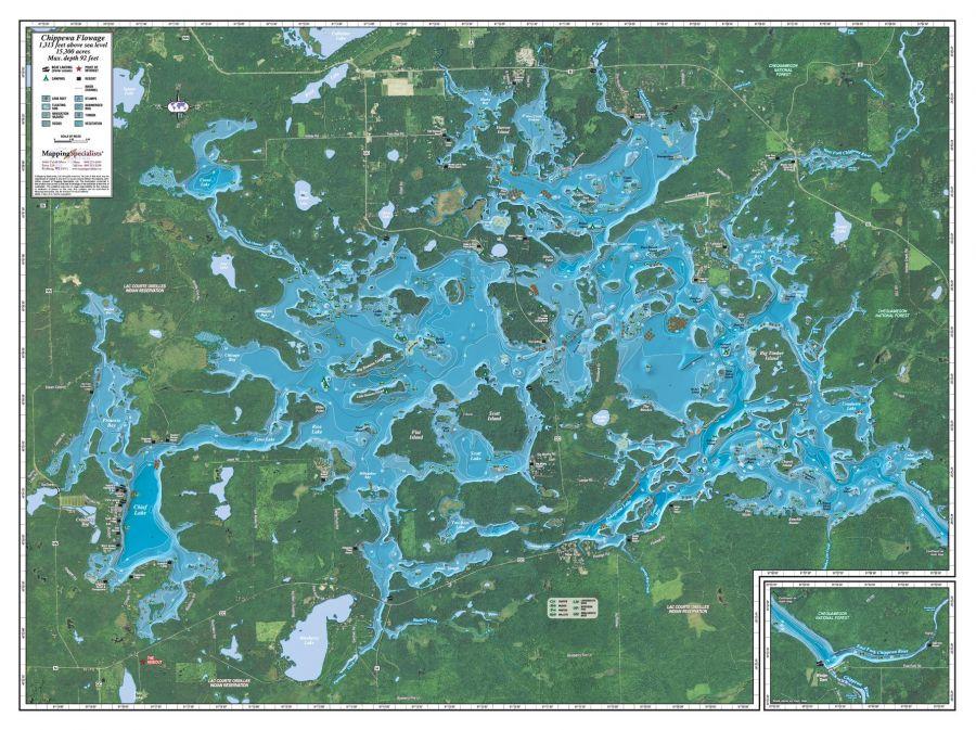 Chippewa Flowage Map