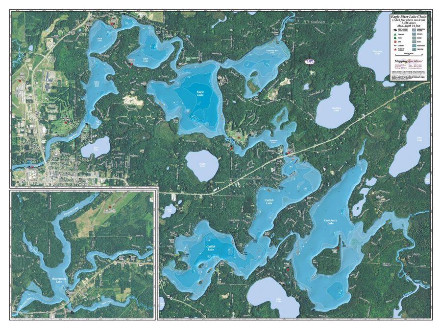 Eagle River Chain Map