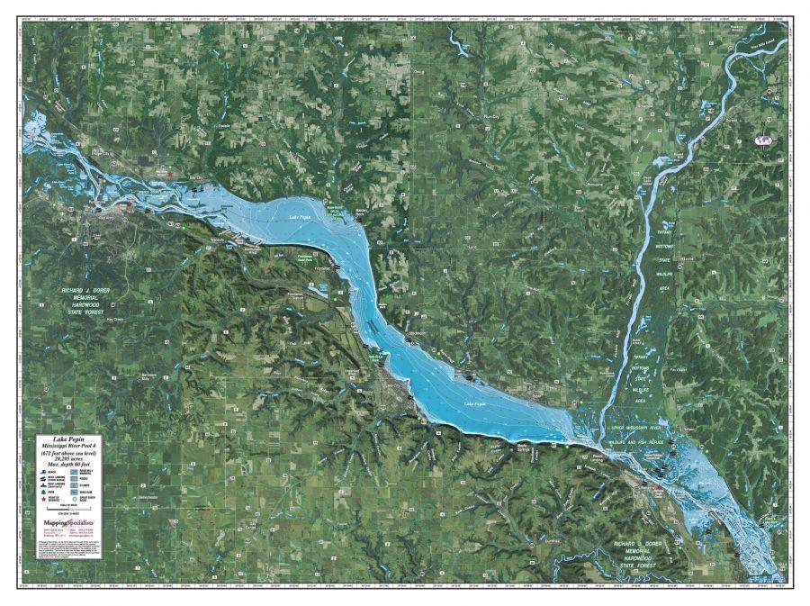 Missippi River Pool 4 Pepin Map