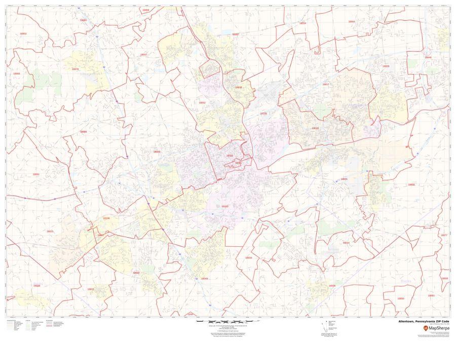 Allentown ZIP Code Map
