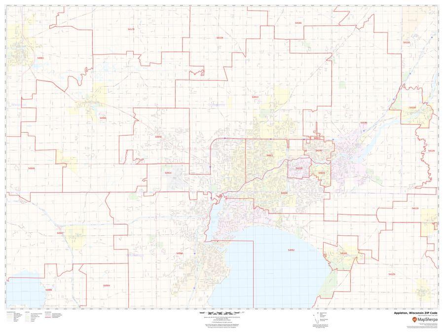 Appleton ZIP Code Map