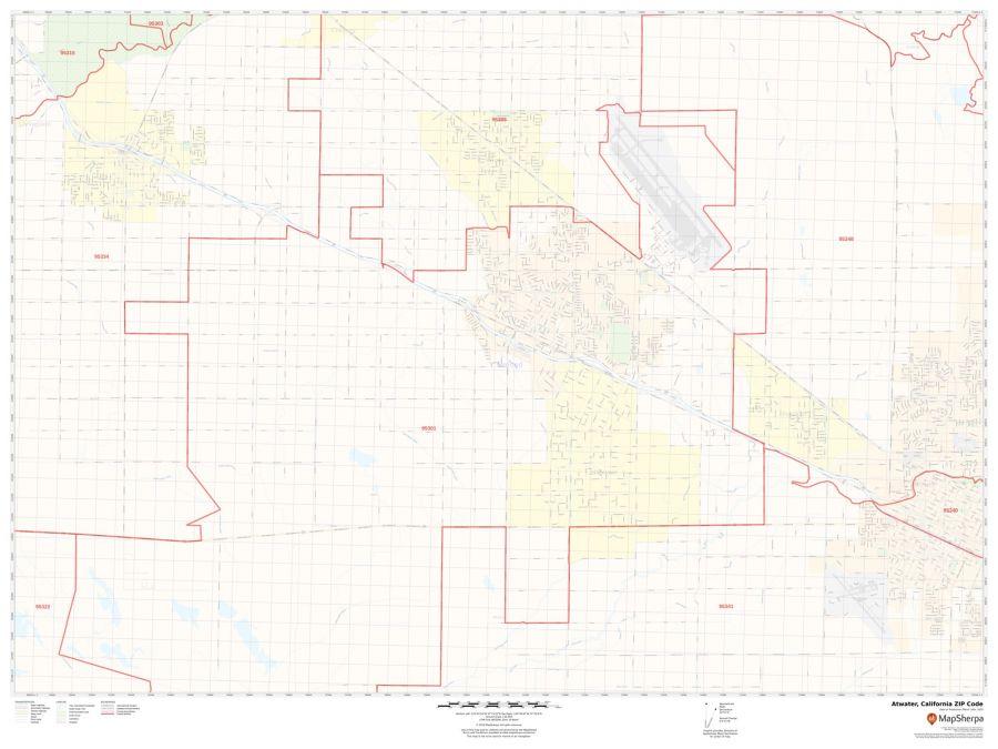 Atwater ZIP Code Map