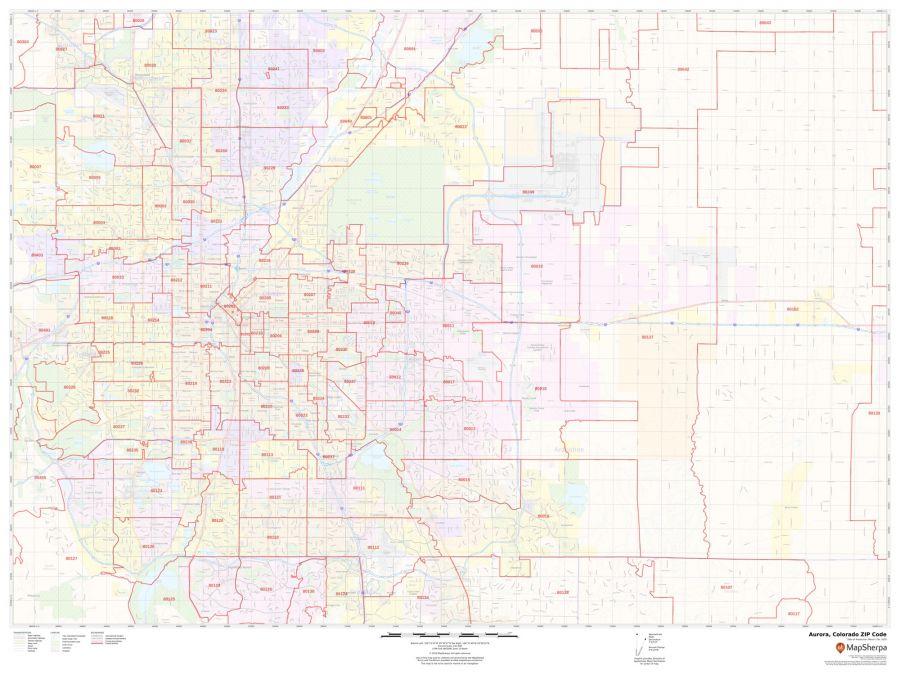 Aurora ZIP Code Map