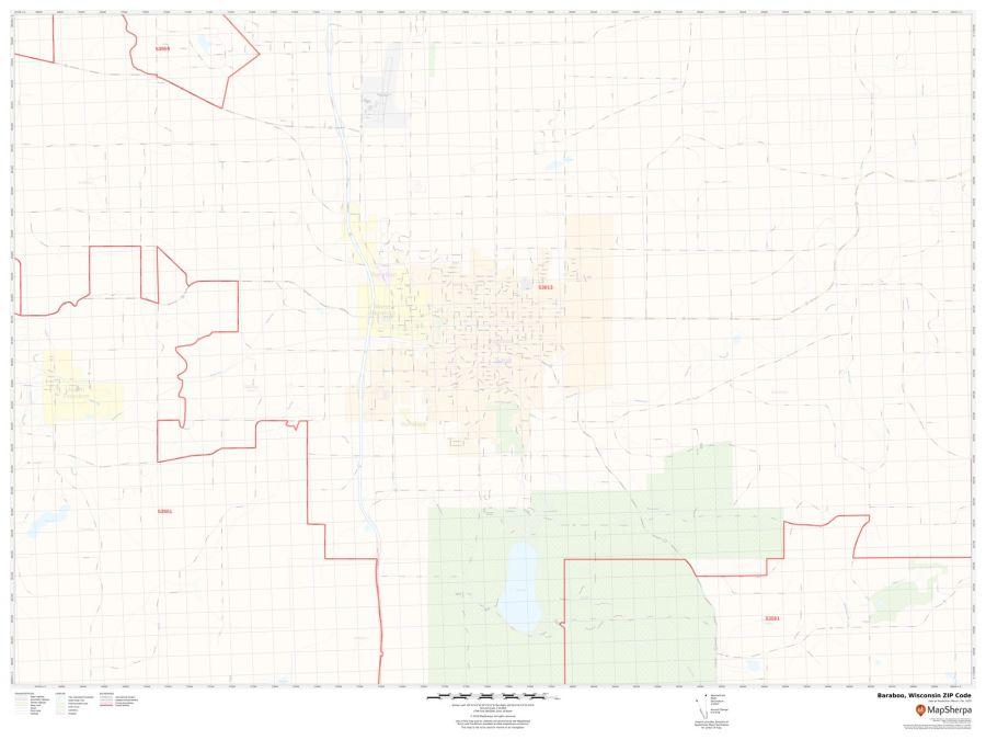 Baraboo ZIP Code Map