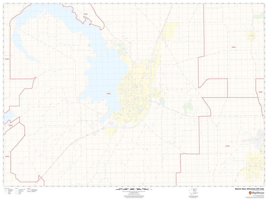 Beaver Dam ZIP Code Map