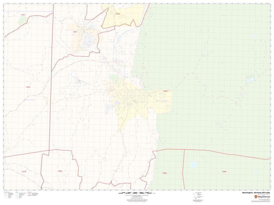 Bennington ZIP Code Map