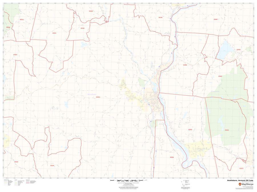 Brattleboro ZIP Code Map
