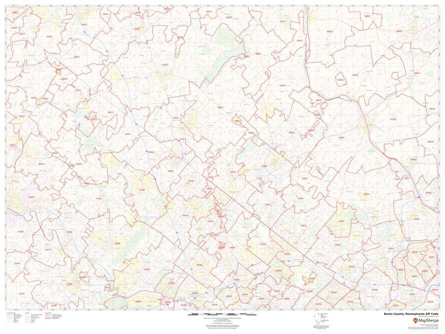 Bucks County ZIP Code Map