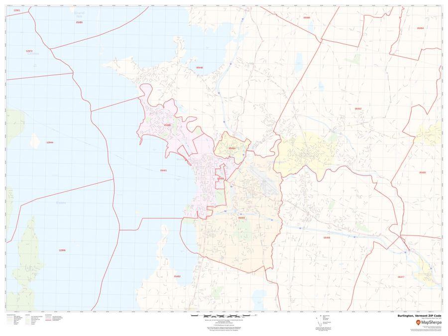 Burlington ZIP Code Map