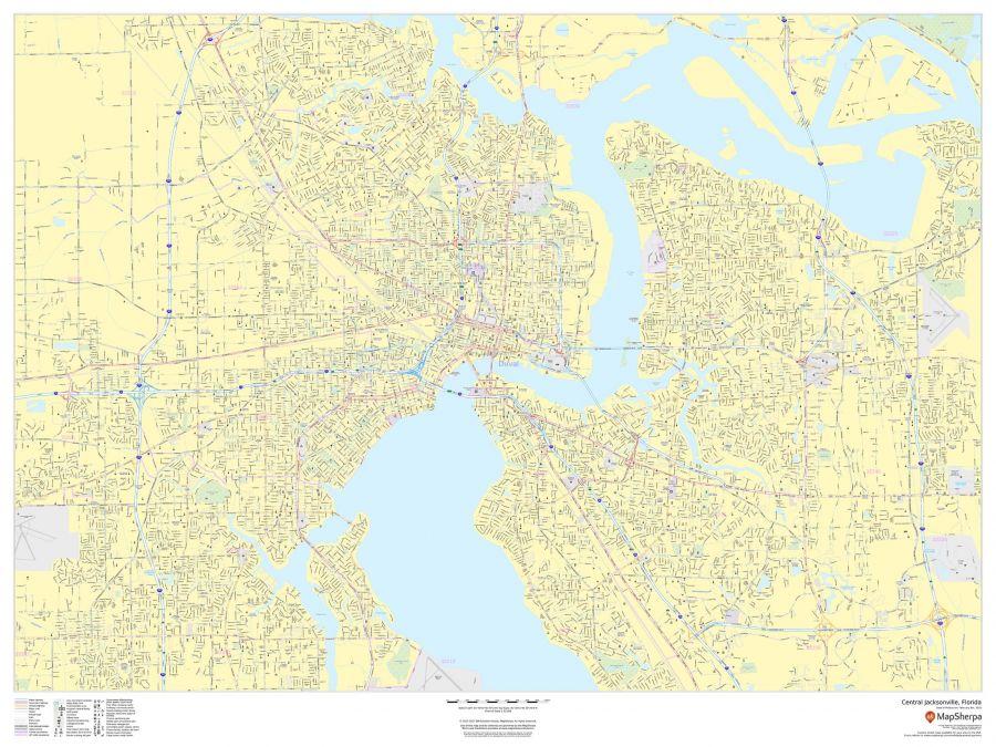 Central Jacksonville Florida Landscape Map