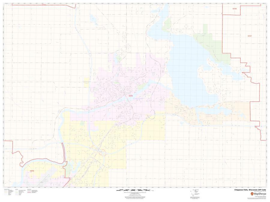 Chippewa Falls ZIP Code Map