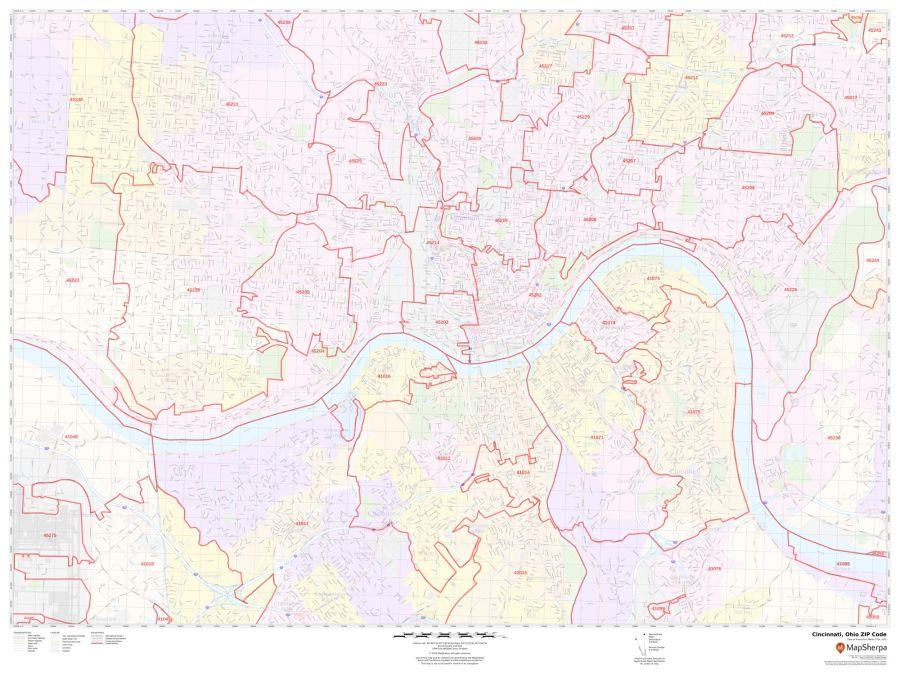 Cincinnati ZIP Code Map
