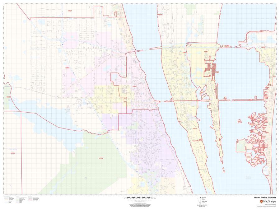 Cocoa ZIP Code Map