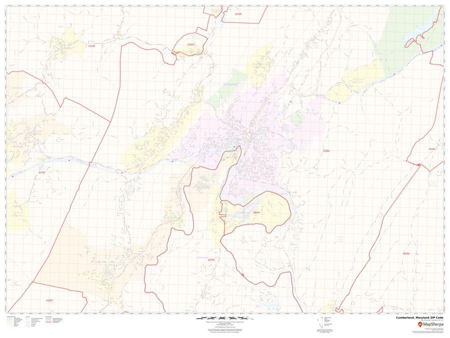 Cumberland ZIP Code Map