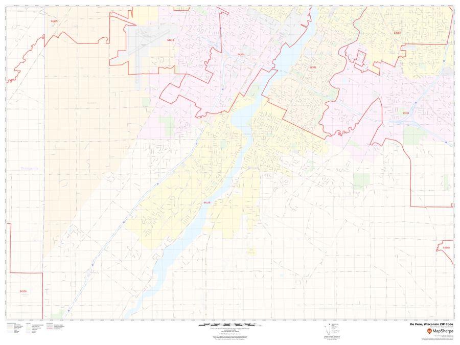 De Pere ZIP Code Map