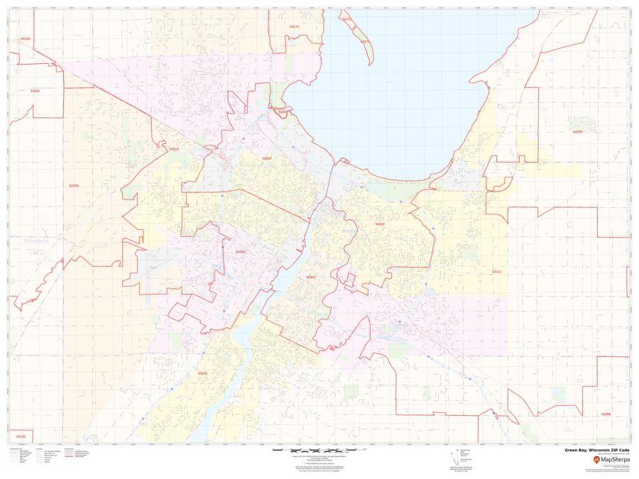 Green Bay ZIP Code Map