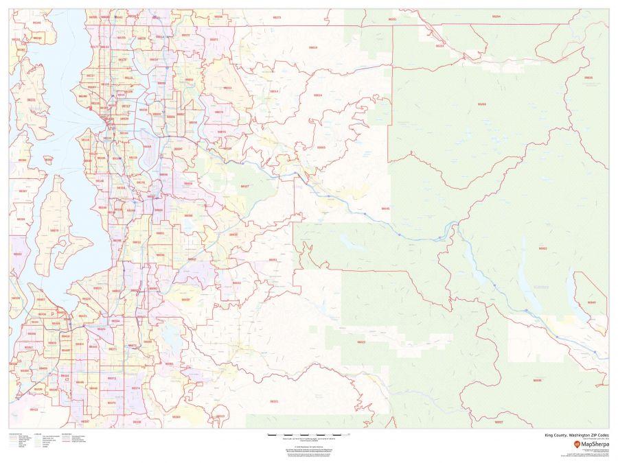 King County Washington Zip Codes Map