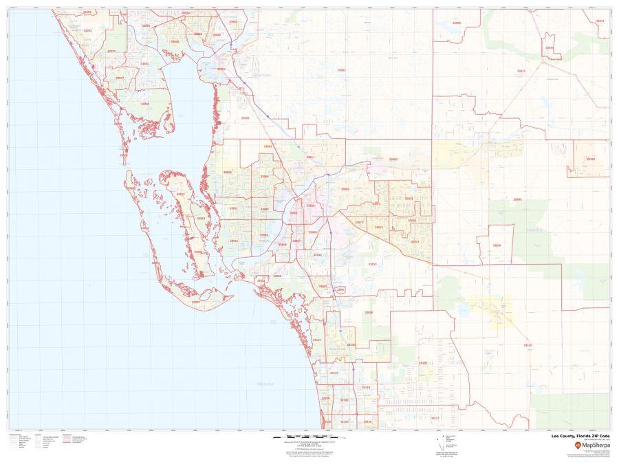 Lee County ZIP Code Map