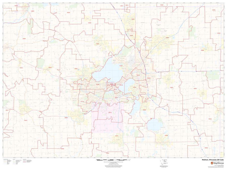 Madison ZIP Code Map