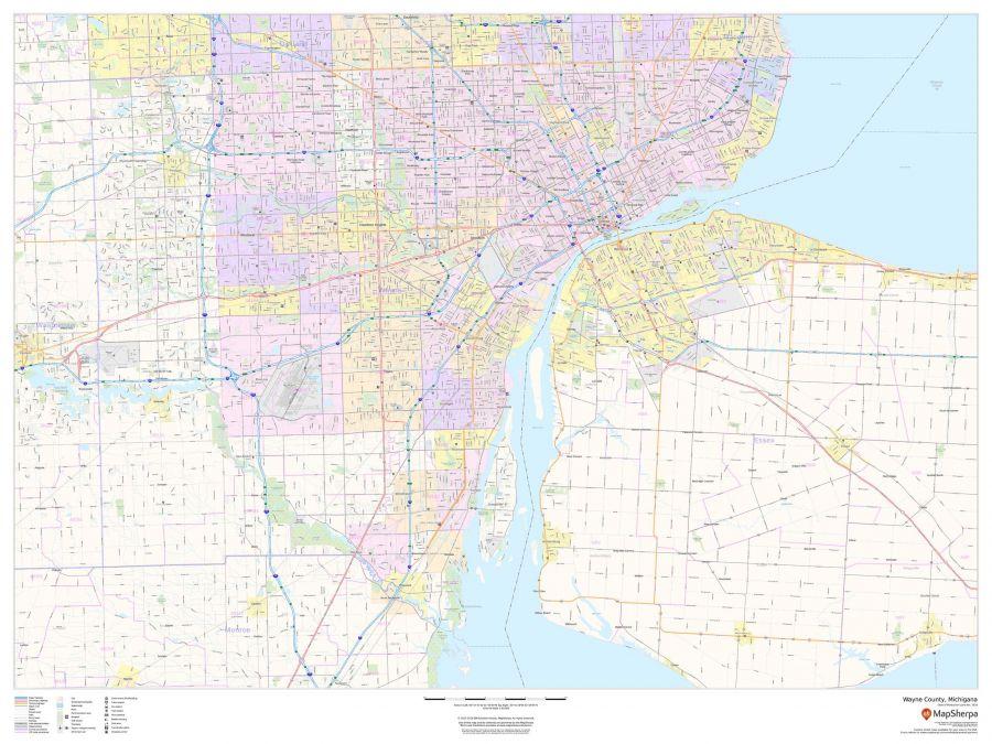 Wayne County Michigan Map