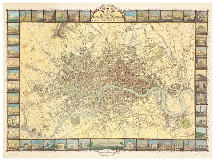 London Tallis 1851 Map