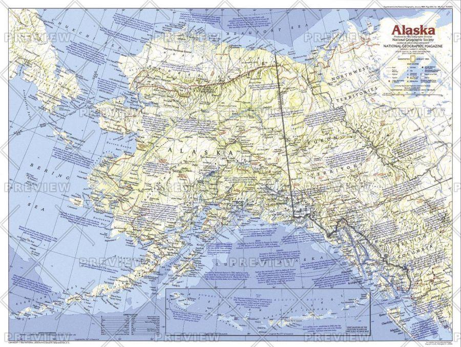Alaska Published 1984 Map