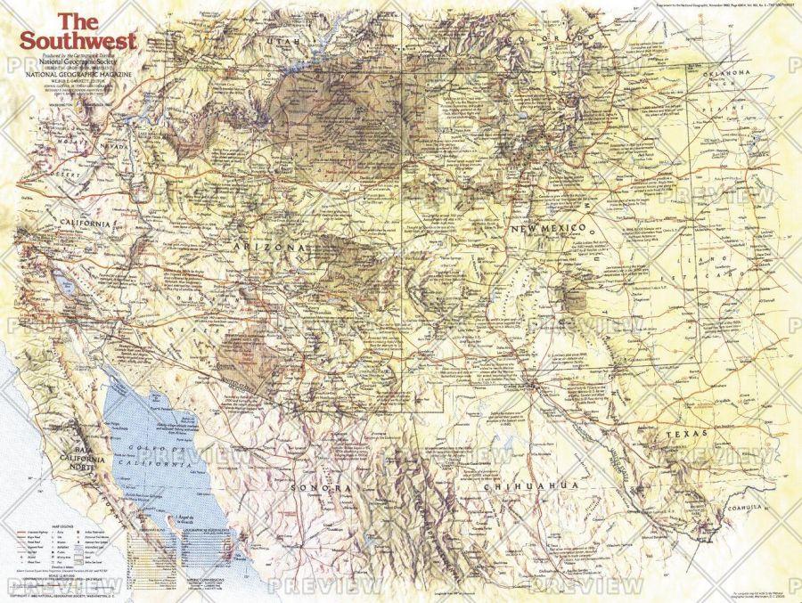 Southwest Side 1 Published 1982 Map