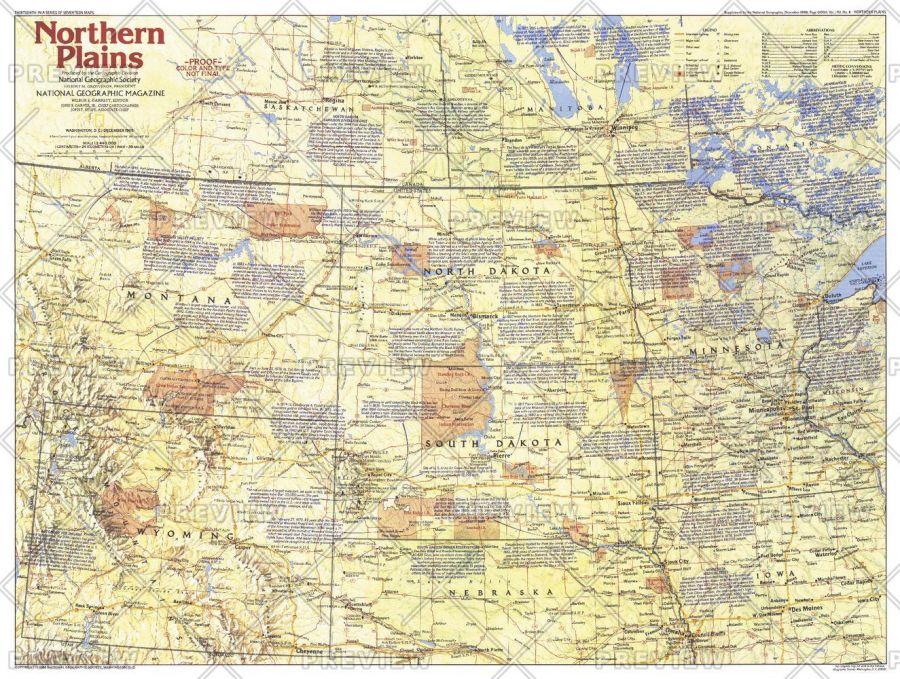 Northern Plains Map Side 1 Published 1986