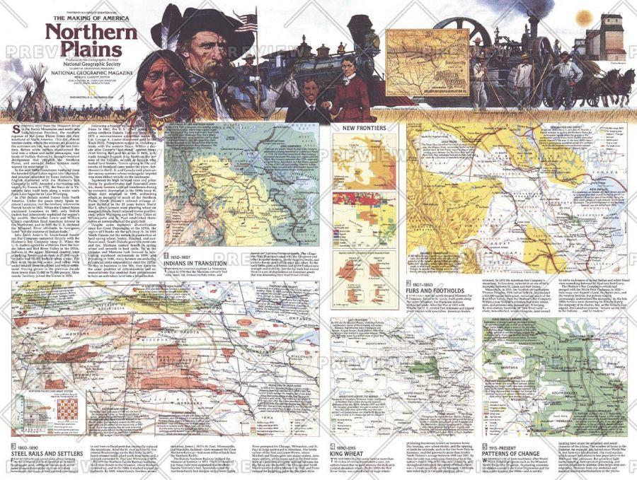 Northern Plains Map Side 2 Published 1986