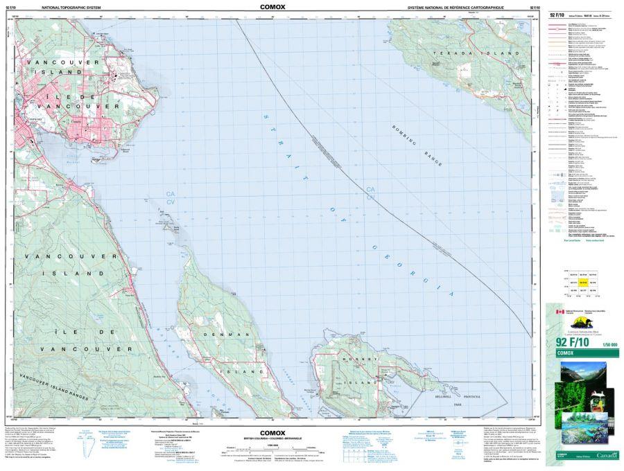 Comox - 92 F/10 - British Columbia Map