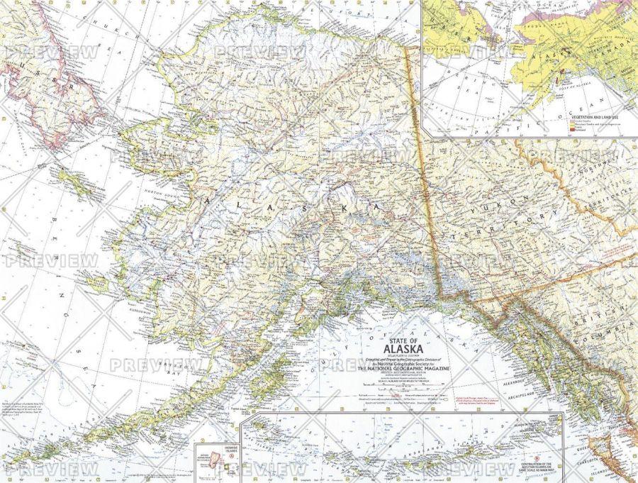 State Of Alaska Published 1959 Map
