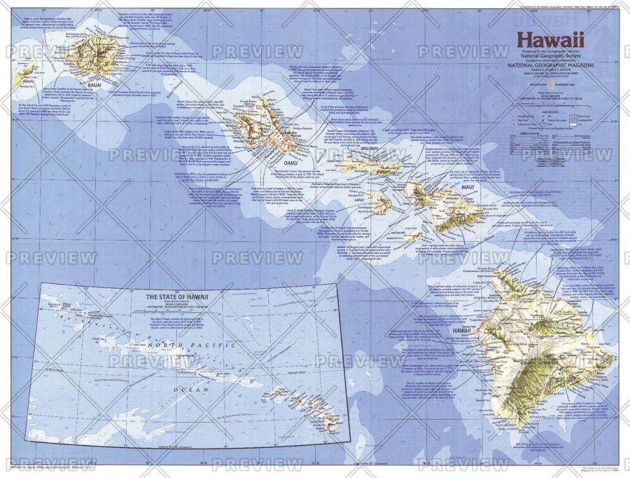 Hawaii Published 1983 Map
