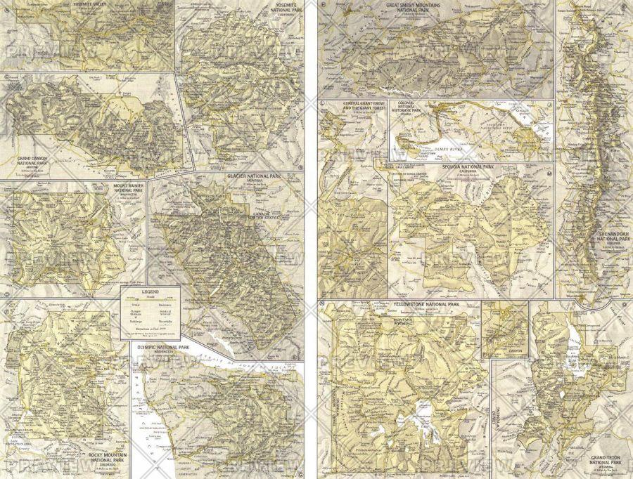 National Parks Inset Maps Published 1958