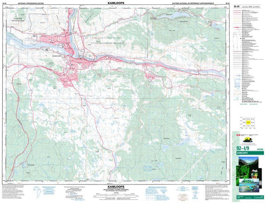 Kamloops - 92 I/9 - British Columbia Map
