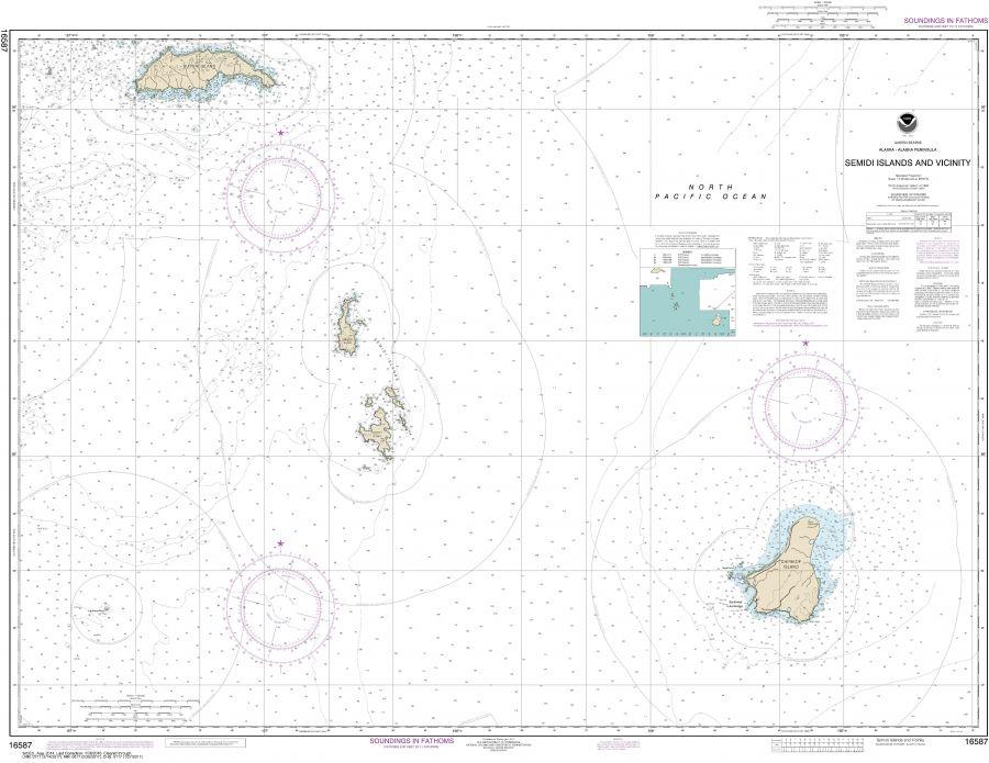 Noaa Chart 16587 Semidi Islands And Vicinity